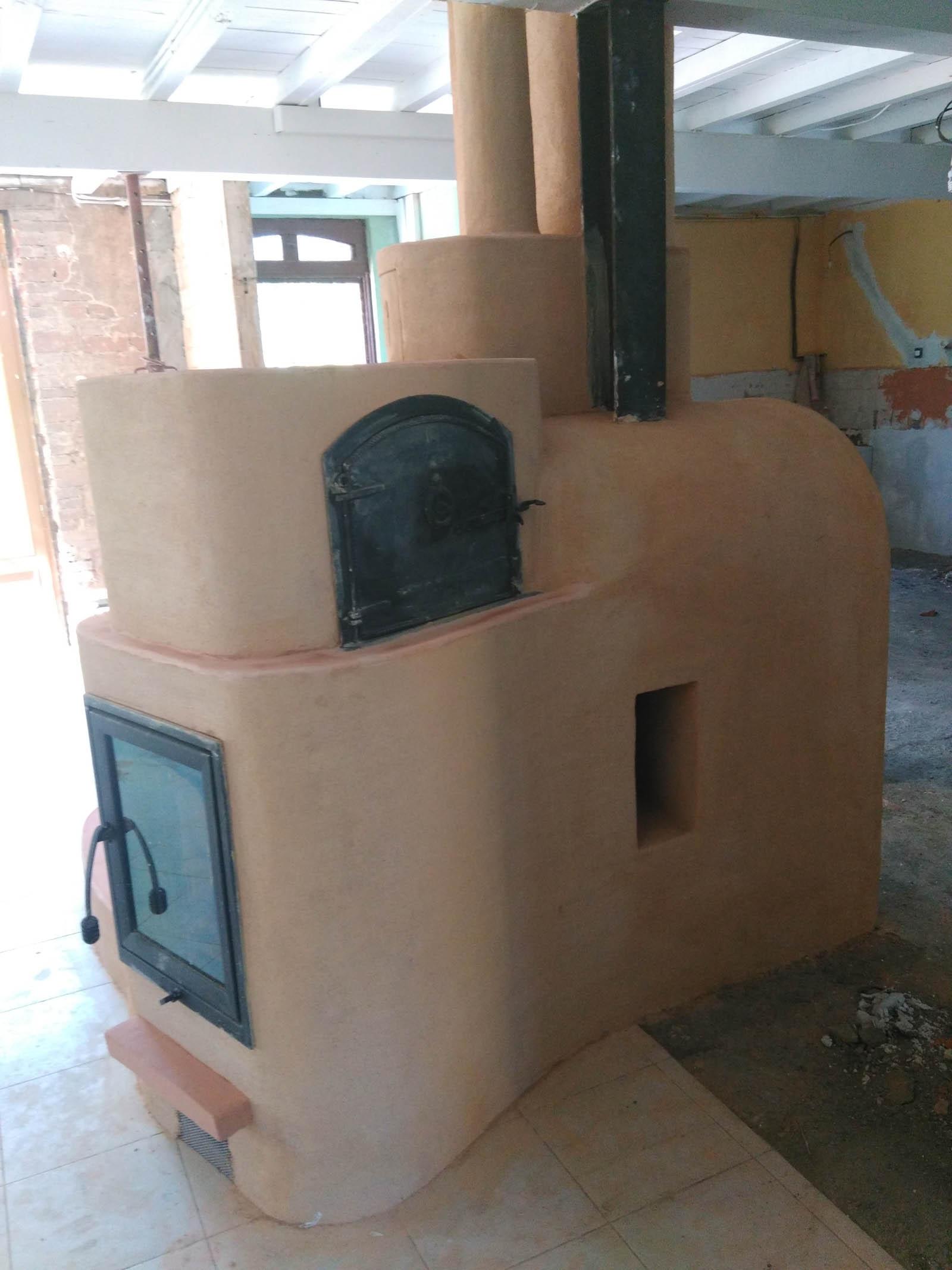 mise en place d'un poêle à accumulation dans une ferme à coté de Pamiers en Ariège