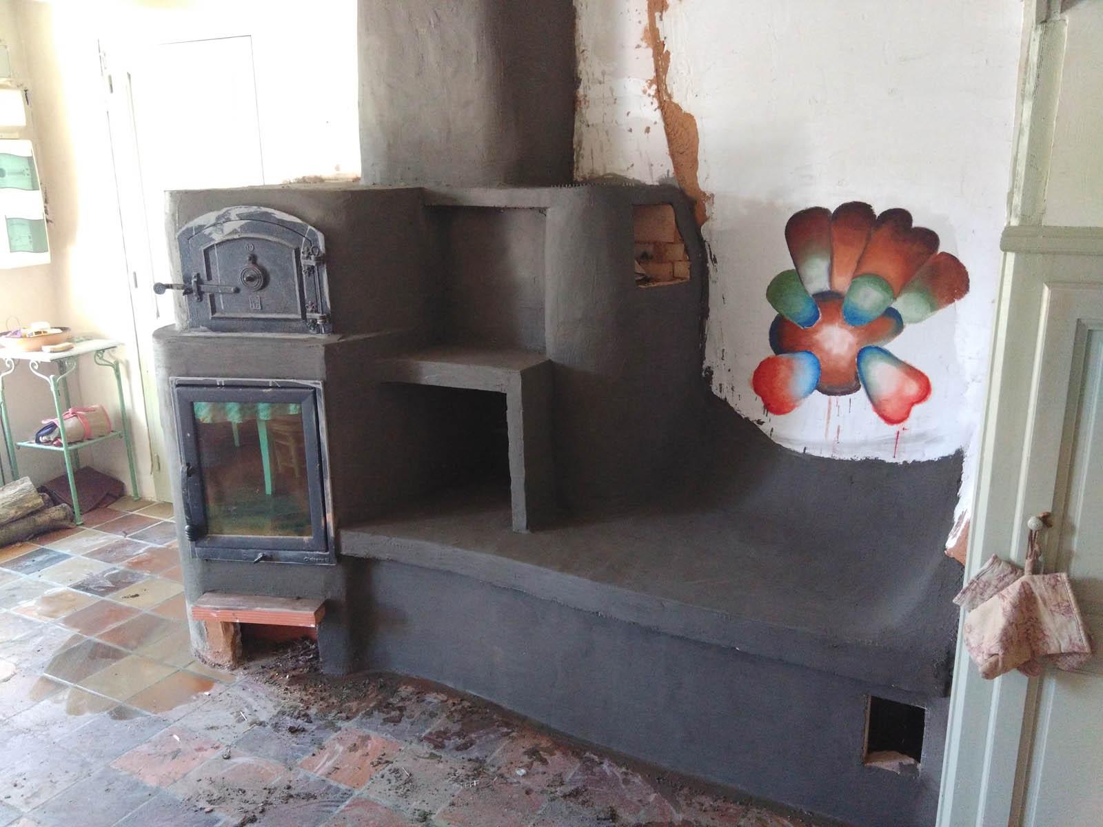 Réalisation d'un poêle à accumulation à Roquefixade en Ariège
